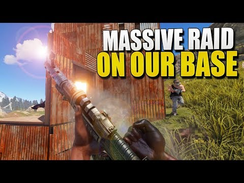 The MASSIVE ONLINE RAID On Our BASE: Finale (Rust Survival) #122