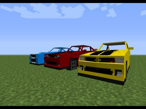 Minecraft Mod Spotlight - Sports cars (Spino vehicle pack 2.0)