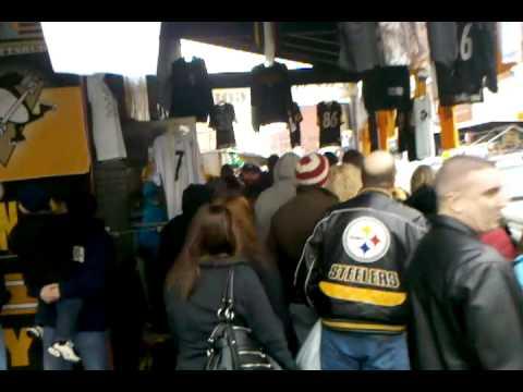 Pittsburgh Strip District  Superbowl XLV Steelers