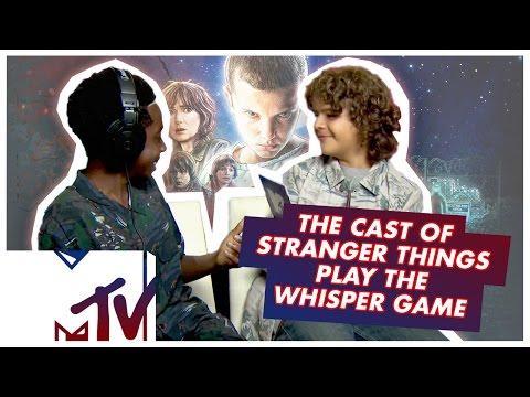The Stranger Things Kids Play THE WHISPER CHALLENGE!   MTV