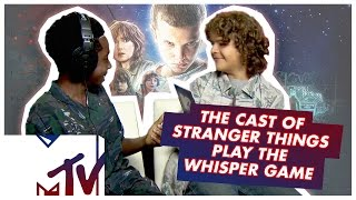 The Stranger Things Kids Play THE WHISPER CHALLENGE | MTV Movies