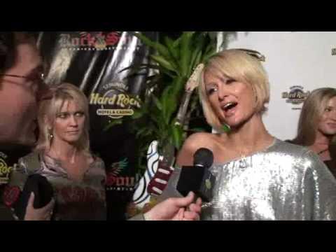 Paris Hilton Super Bowl Party Tampa Hard Rock 2009 Parties XLIII Red Carpet Interview