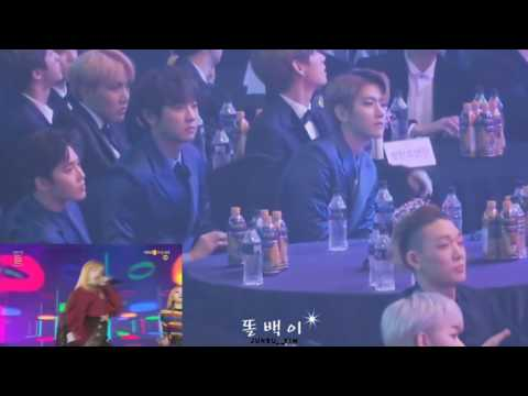 Exo,BTS,BOBBY Reaction To BLACKPINK (Seoul Music Awards)