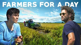 Erwan and Nico Try Rice Farming in Leyte Philippines