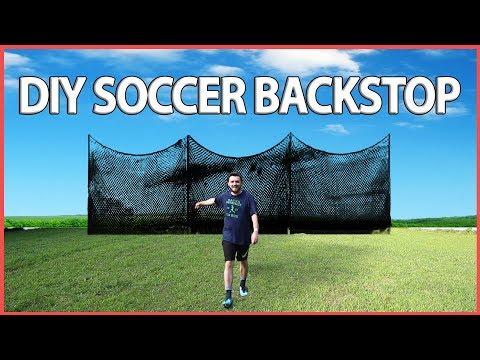 DIY Backstop for your Soccer Goal