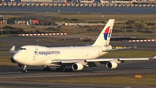 Malaysia Airlines Cargo B747- 400F (9M-MPR) landing 34L at Sydney Airport (YSSY)