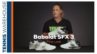 First look at the new Babolat SFX 3 Tennis Shoe (Available July 24th!)