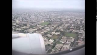 Landing at Lahore airport (Qatar Airways)
