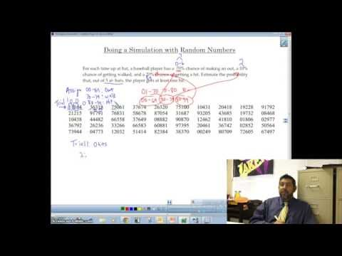 Conducting Simulation With Random Numbers