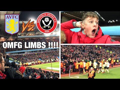 Aston Villa Vs Sheffield United *VLOG* 94th MINUTE LIMBS