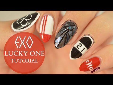 "EXO ""Lucky One"" Nail Art Tutorial"