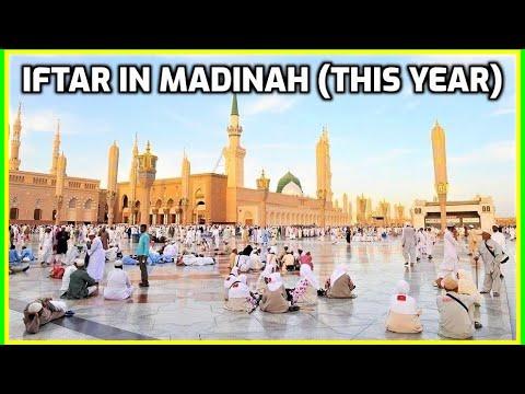 Iftar in Madinah Ramadan 2017: Masjid an-Nabawi Umrah Vlog 1438 رمضان المسجد النبوي