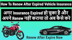 How to Renew After Expire Vehicle Insurance