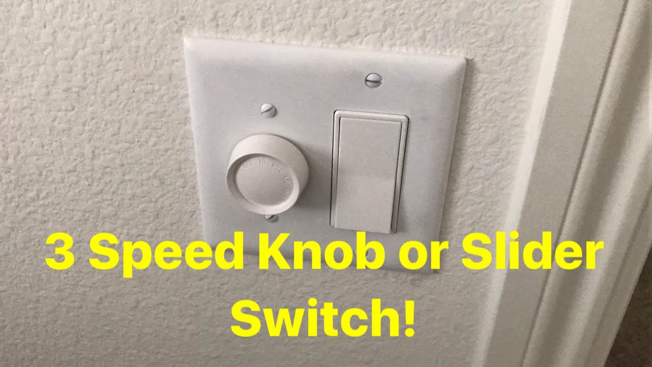 Installing A Wall Switch 3 Speed For Ceiling Fans Youtube Wiring Fan With Light
