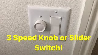 Installing A Wall Switch 3 Speed for Ceiling Fans