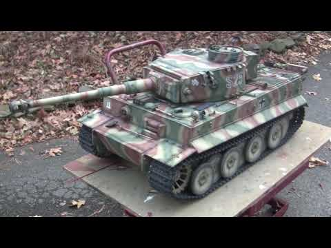 Vintage RC 1/6th scale armortek early production Tiger I Video#16 (model 95% done)