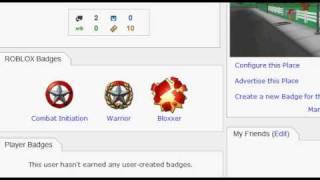 COMPTE GRATUIT ROBLOX avec badge Bloxxer (22 janvier 2012)