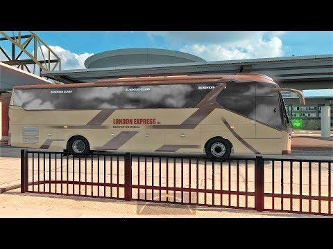 ETS2: Dhaka to Sylhet (London Express MAN coach)