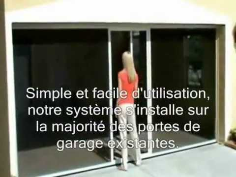 La porte de garage moustiquaire lifestyle distribu par - Comment installer une porte moustiquaire ...