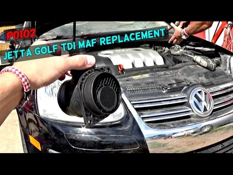 P0102 VW JETTA 1.9 TDI 2.0 MAF SENSOR Removal and Replacement | MAF DIAGNOSTICS