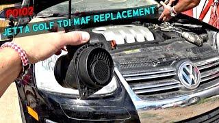 P0102 VW JETTA 1.9 TDI 2.0 MAF SENSOR Removal and Replacement   MAF DIAGNOSTICS