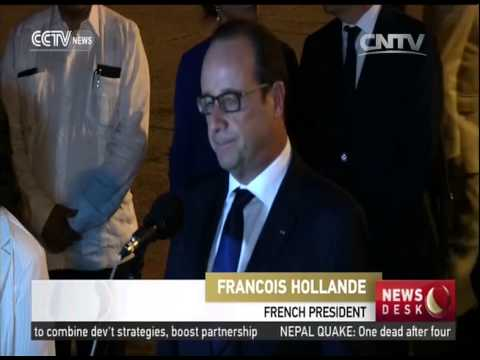 France's Hollande Arrives in Cuba on Historic Visit