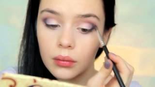 видео дневной макияж для карих глаз