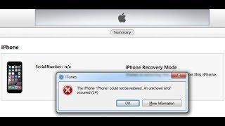 Erro 14 Restauração Iphone - Solução Rápida