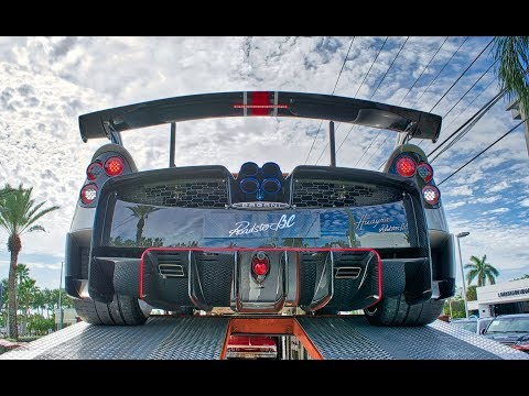 Pagani Huayra Roadster BC Delivery To Pagani Miami Interior Exterior Sound & Drive $3.5M Transformer