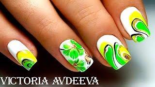 Самый простой маникюр  Летний дизайн ногтей Цветок