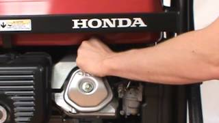changing the spark plug honda generator