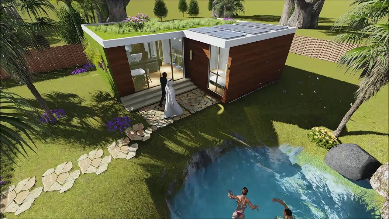 self sustainable and ecological container house por arquitecto