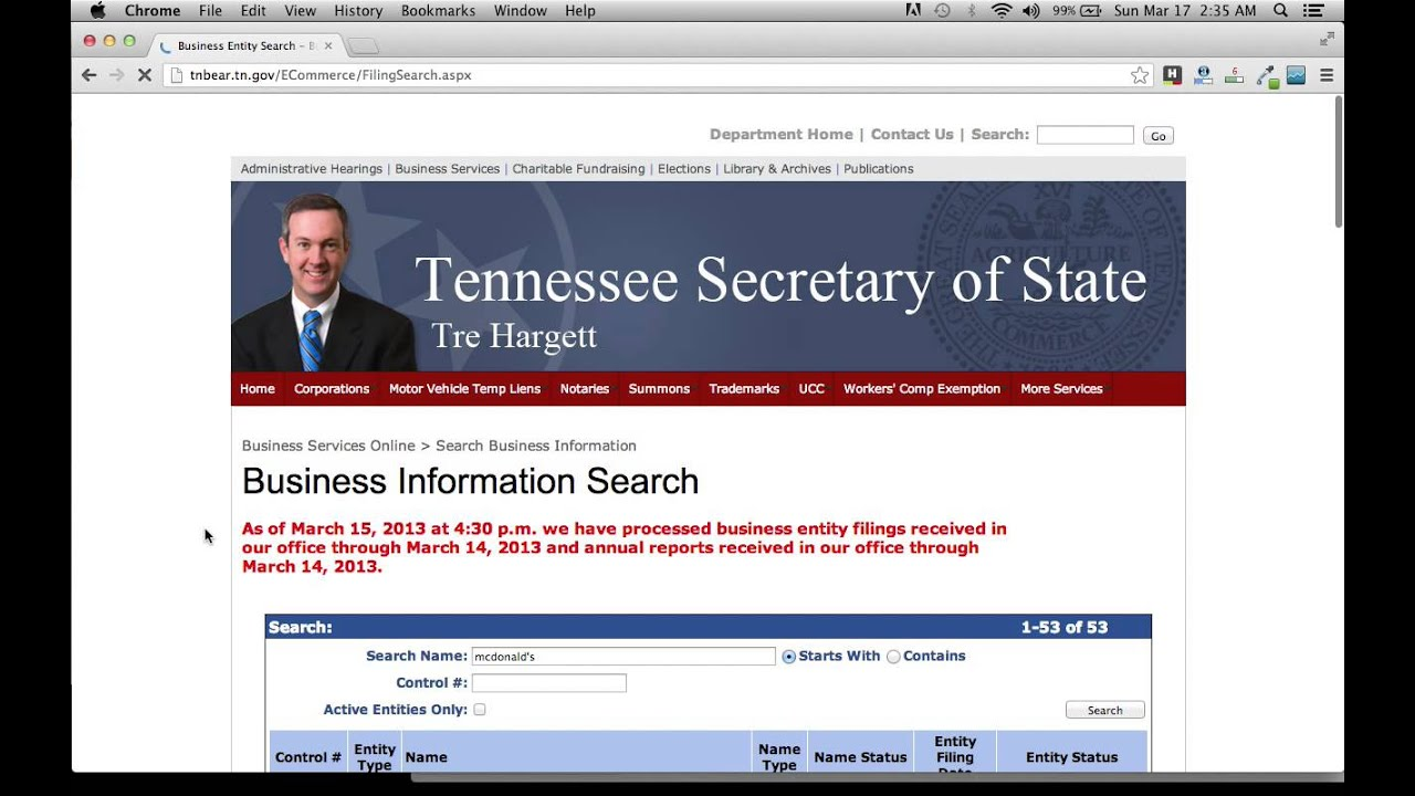 Secretary of State Online Services - Alabama