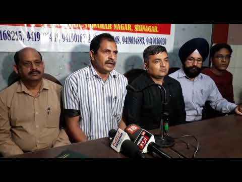 All Jammu and  Kashmir Graduate  Engineers Association (Civil) holds Press Conference