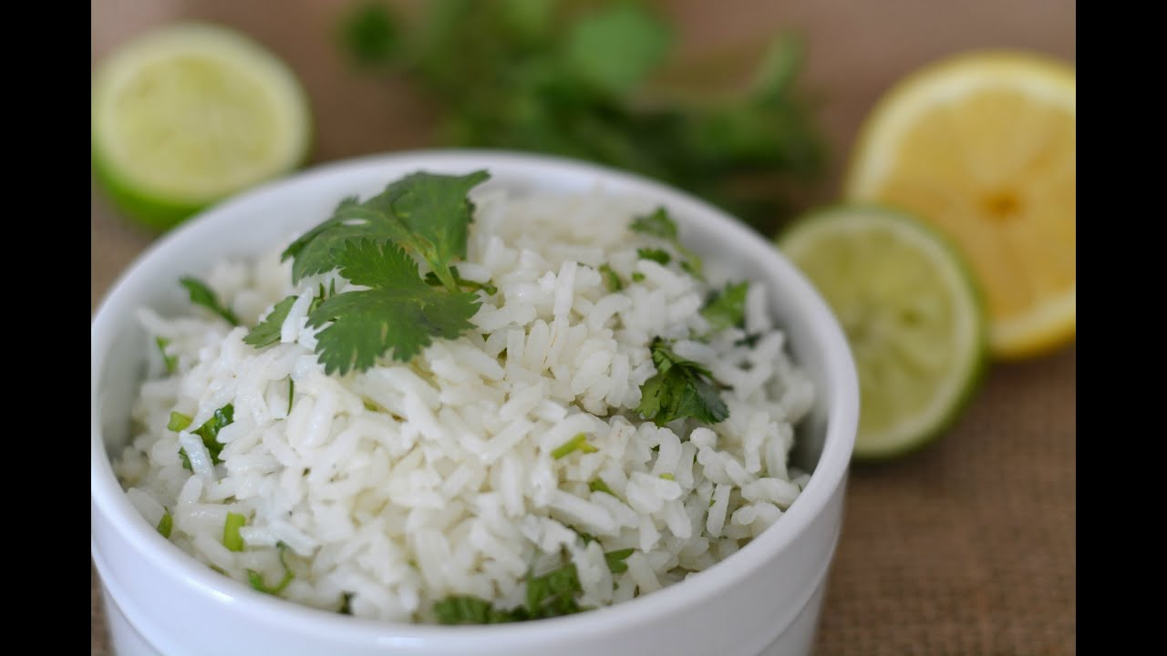 Cilantro Lime Rice Recipe How To Make Cilantro Lime Rice Sweet Y Salado
