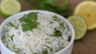Cilantro Lime Rice Recipe - How To Make Cilantro Lime Rice - Sweet Y Salado