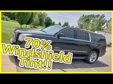 FULL Windshield GMC Yukon XL Tinted in 70% Ceramic Film