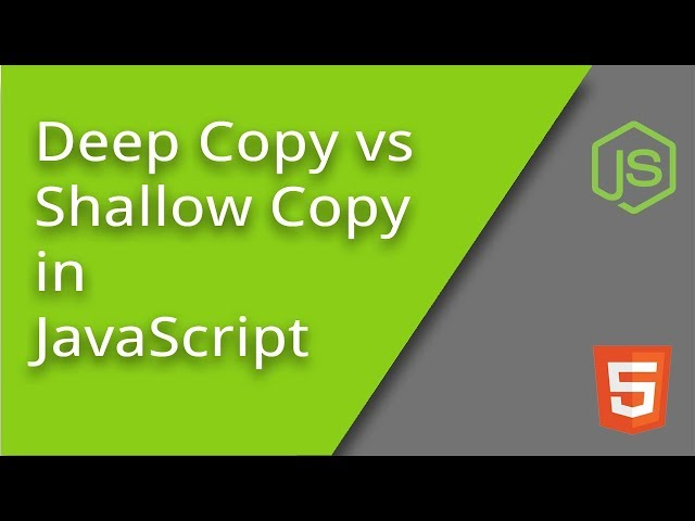 Deep Copying vs Shallow Copying