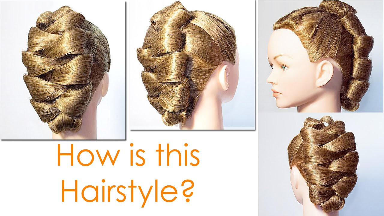 Cute Updo Hairstyle For Round Faces Tutorial Youtube