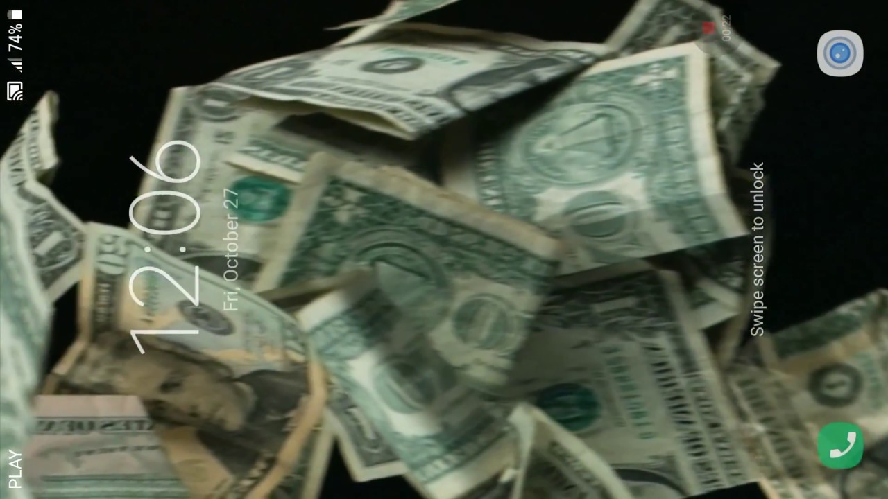 3D Falling Money Live Wallpaper