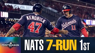 Nationals' MASSIVE 1st inning (7 runs!) puts them WAY up in NLCS Game 4 😱 | MLB Highlights