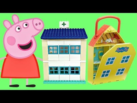 Compilation PEPPA PIG Playsets, Hospital George Sick, School Classroom Duplo, House Garden / TUYC