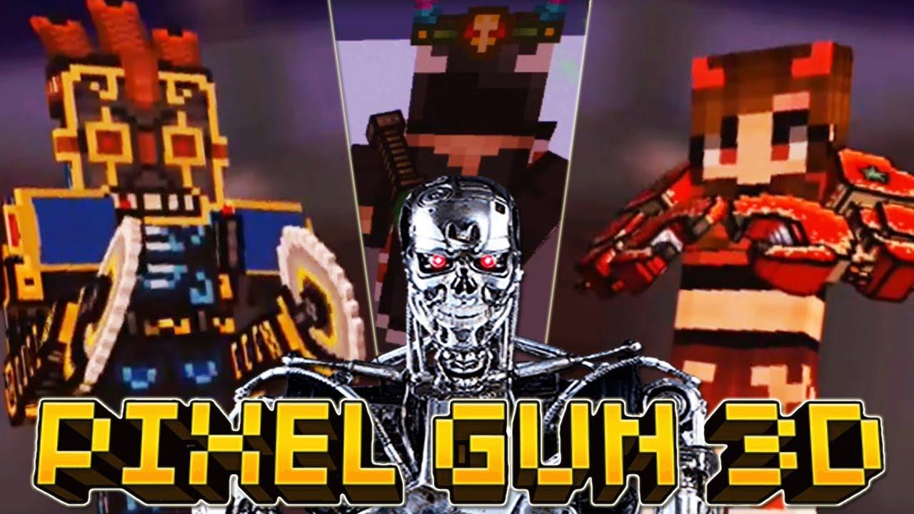 Pixel Gun 3D - #10 TERMINATOR 💀 GOD MODE Duels 😈