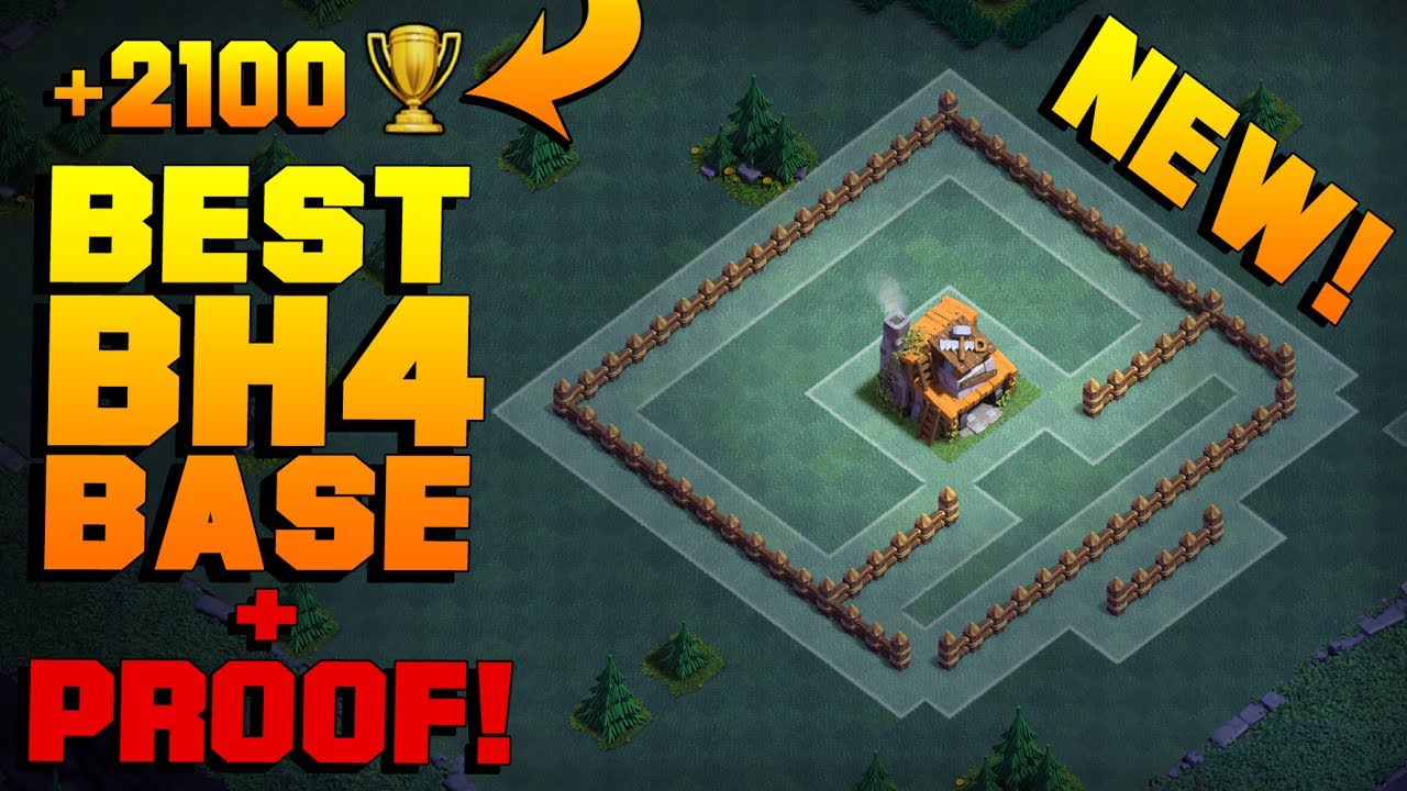 Best builder hall 4 base tested new coc bh4 trap troll for Best builder