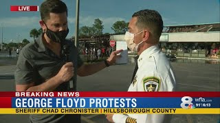 Hillsborough County Sheriff Chad Chronister speaks on Tampa protests