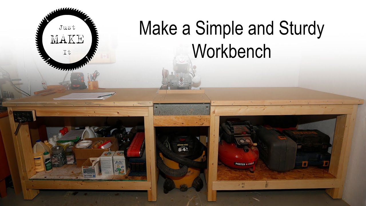 Make A Simple And Sturdy 2x4 Workbench Youtube