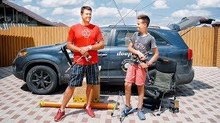 Подготовка к рыбалке! Распаковываем с сыном кучу фидерных ништяков! Новый фидер Глебуса