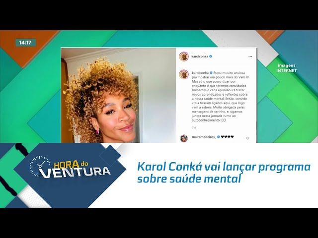 Karol Conká vai lançar programa sobre saúde mental nas redes sociais