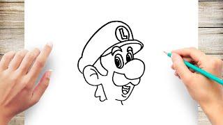How to Draw Luigi Step by Step
