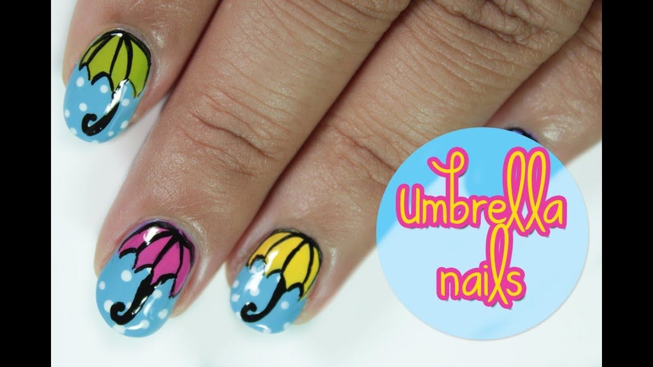 Umbrella nails - YouTube